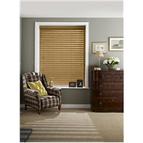 Medium Oak Faux Wood Corded Blind - Arena Expressions