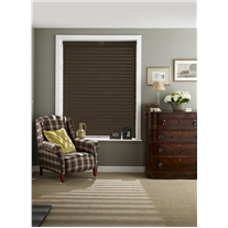 Cinder Faux Wood Corded Blind - Arena Expressions