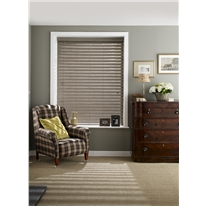 Haze Faux Wood Corded Blind - Arena Expressions