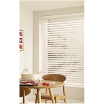 High Shine White Faux Wood Venetian Blind - Arena Expressions
