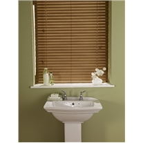 Rustic Oak Faux Wood Corded Blind - Arena Expressions