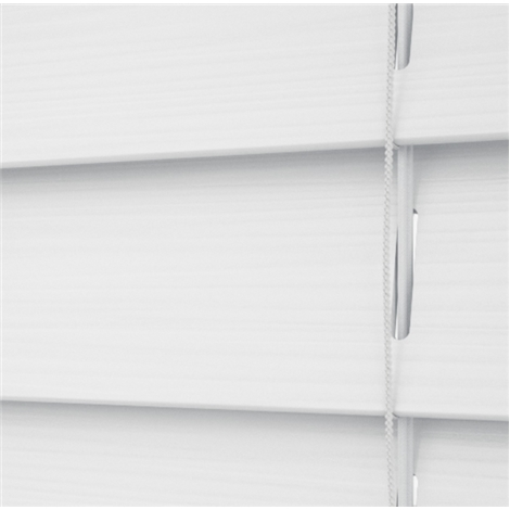 Snow Faux Wood Corded Blind - Arena Expressions